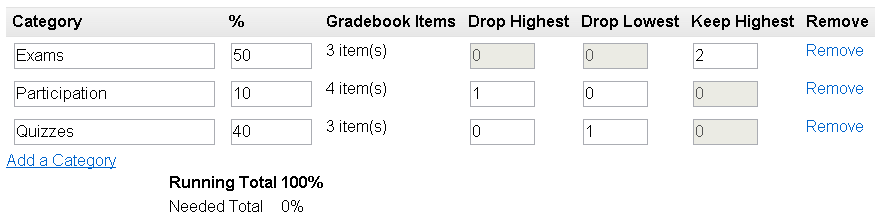 New Gradebook options