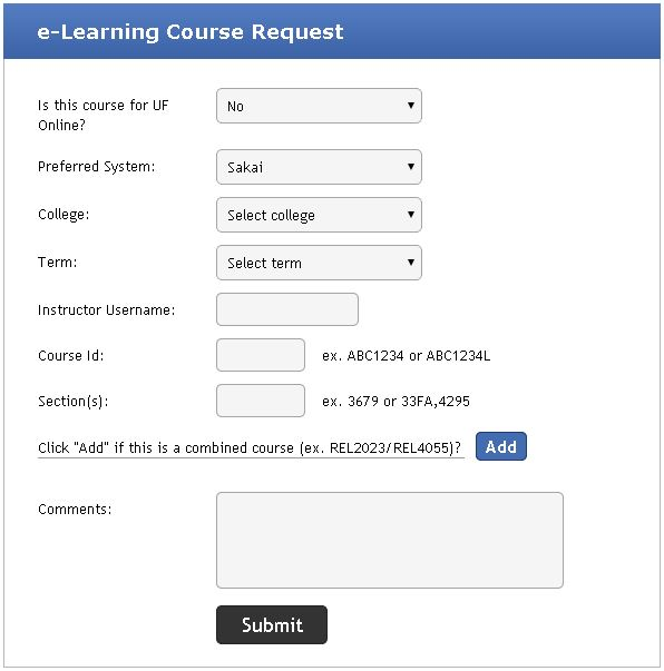 Course Request Process - e-Learning Documentation